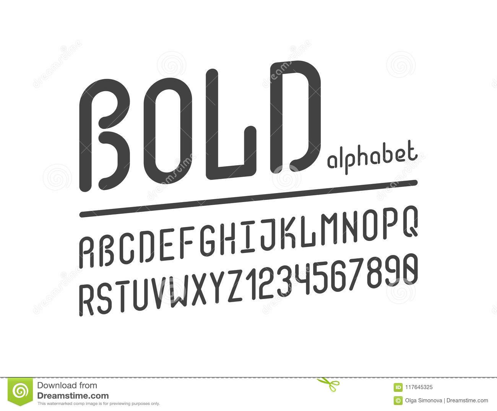 The bold retro creative font.