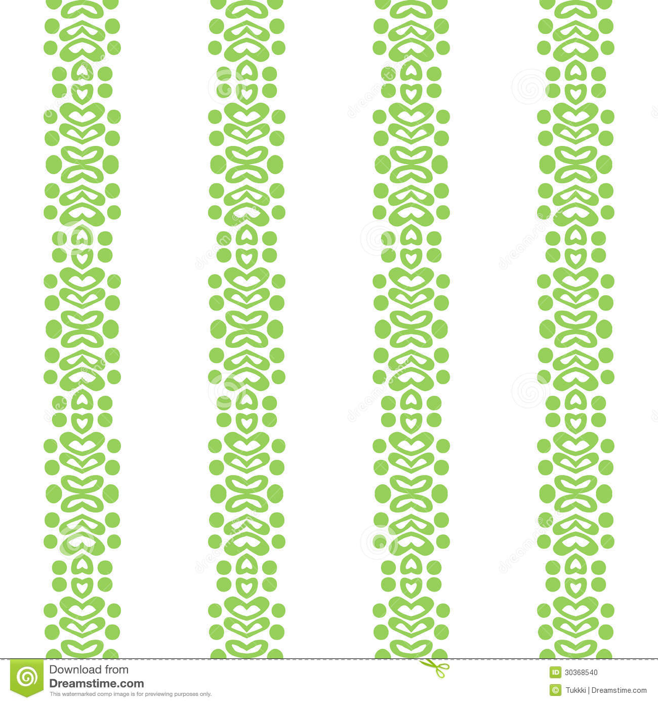Bold Simple Vertical Ornamented Pattern Stock Vector