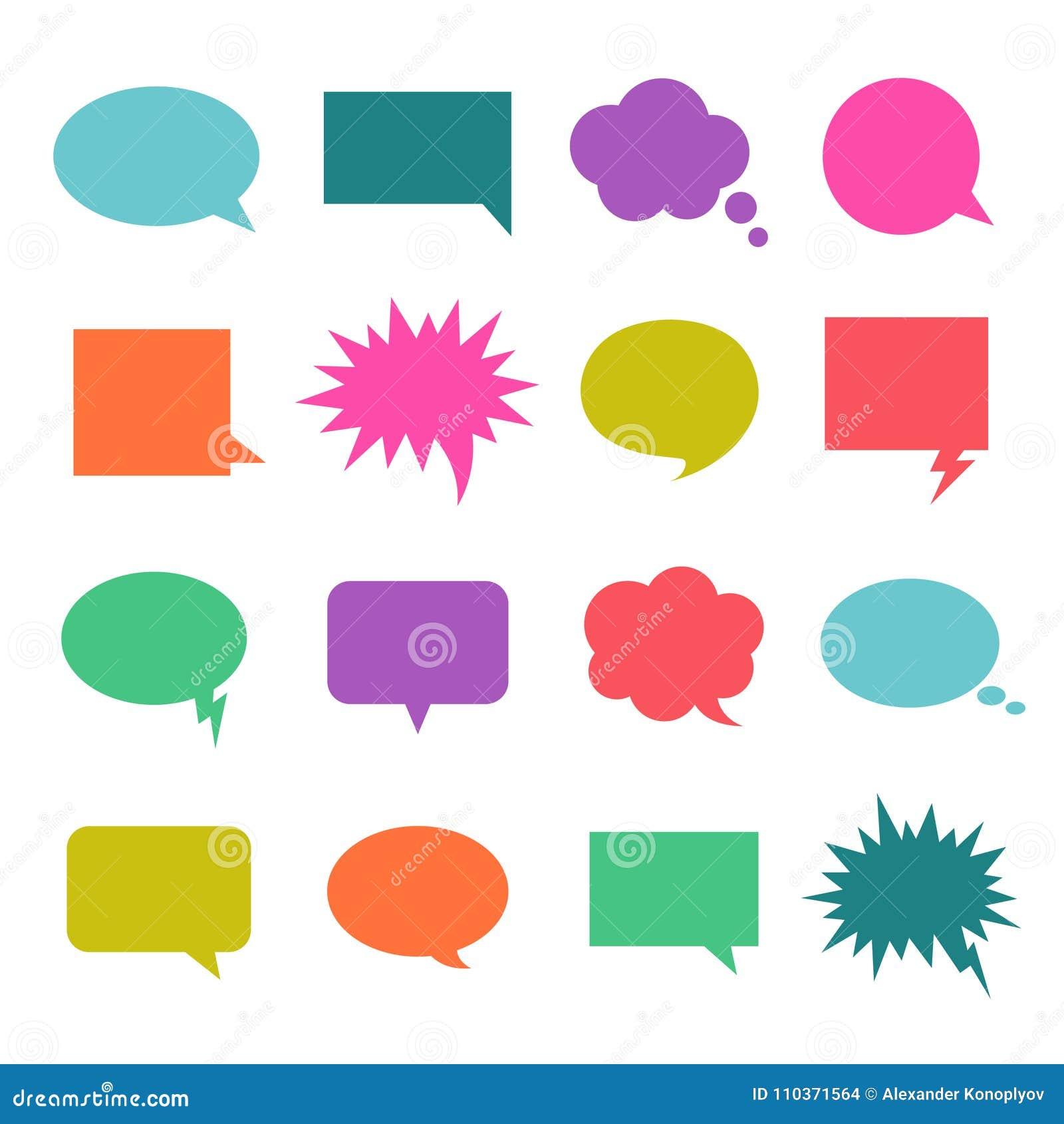 Bolha da cor da conversa