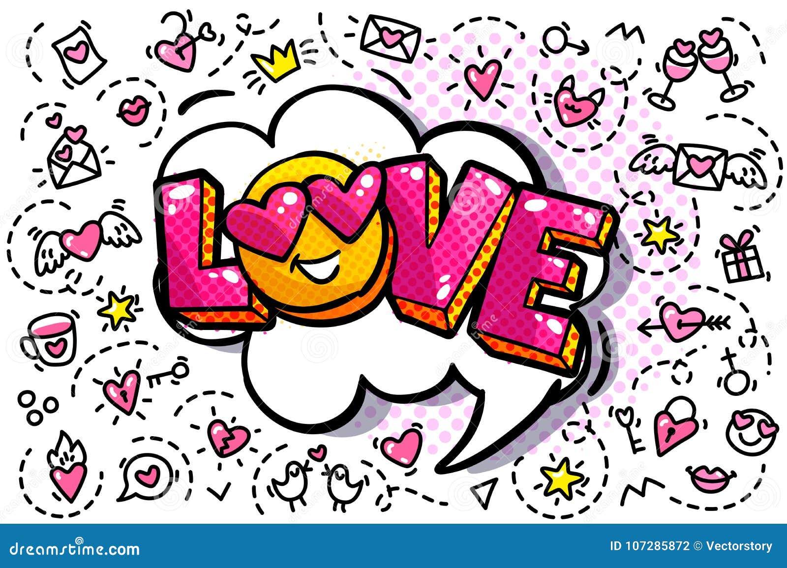 Bolha da palavra do amor