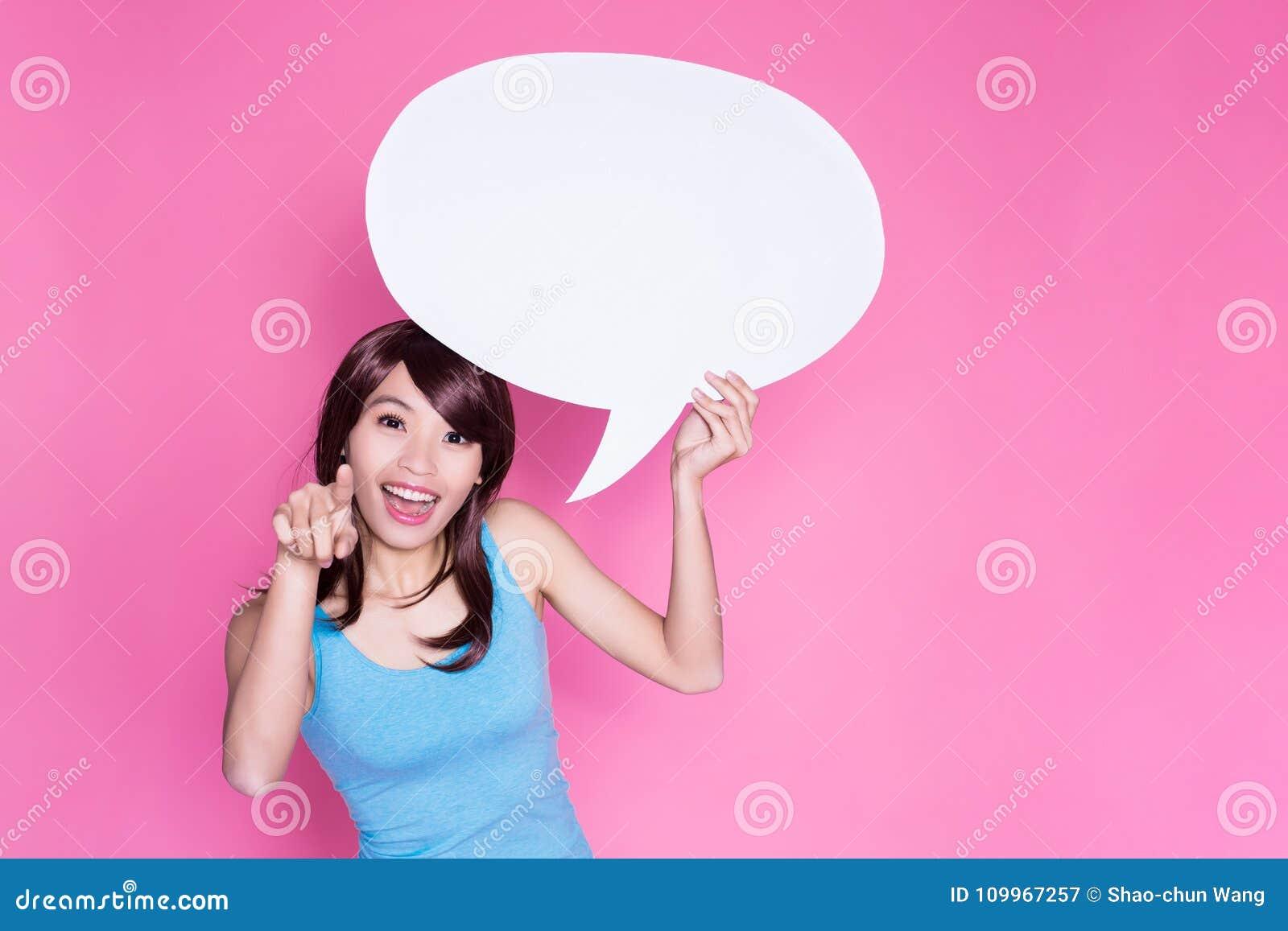 Bolha do discurso da tomada da mulher
