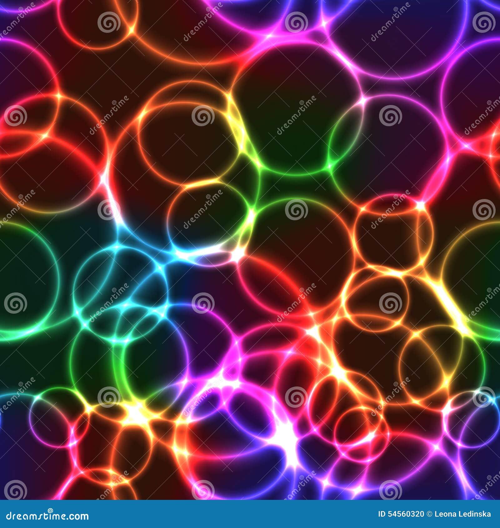 bolhas brilhantes da cor de n233on do arco237ris fundo sem