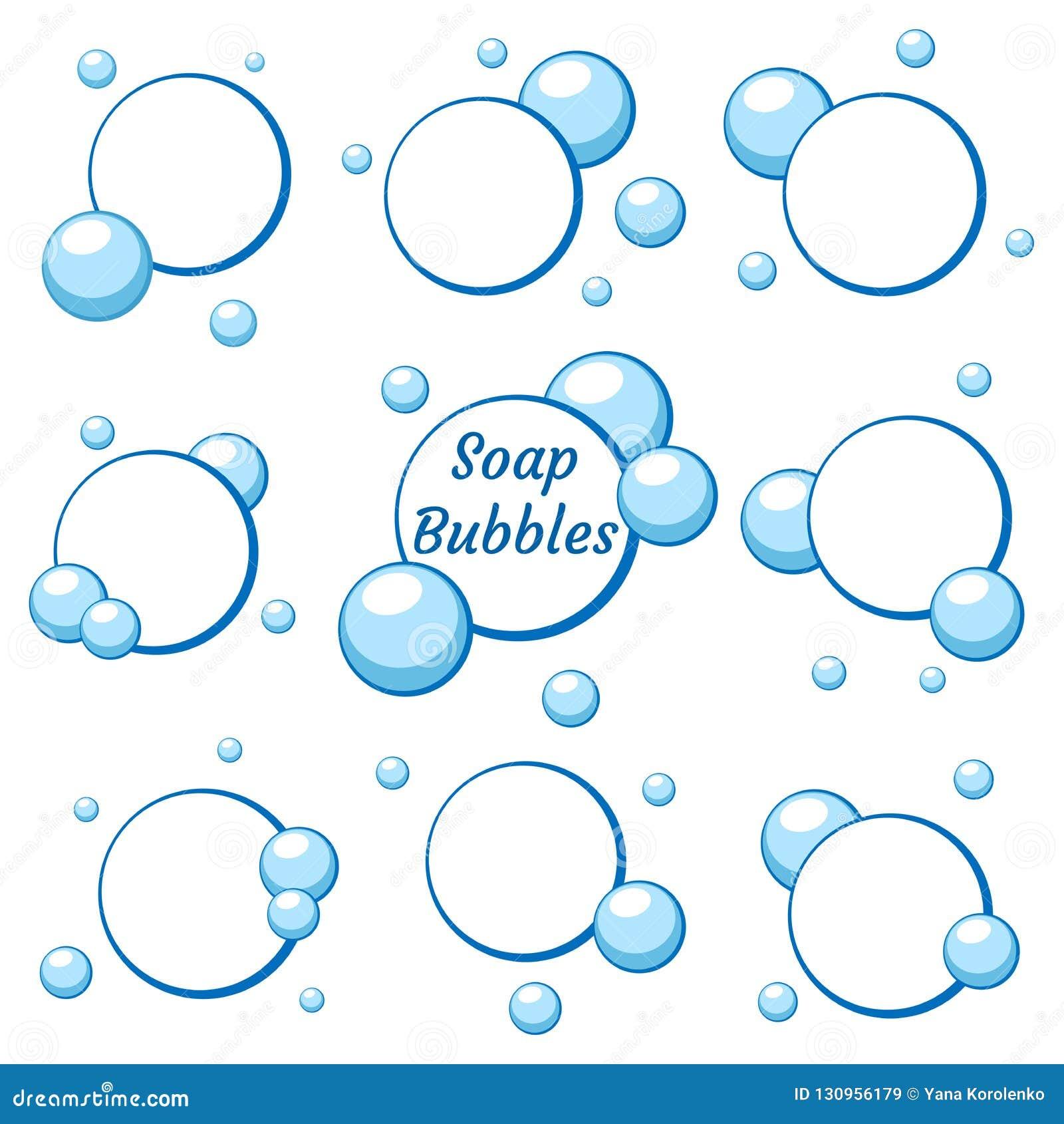Bolhas de ar azul da água