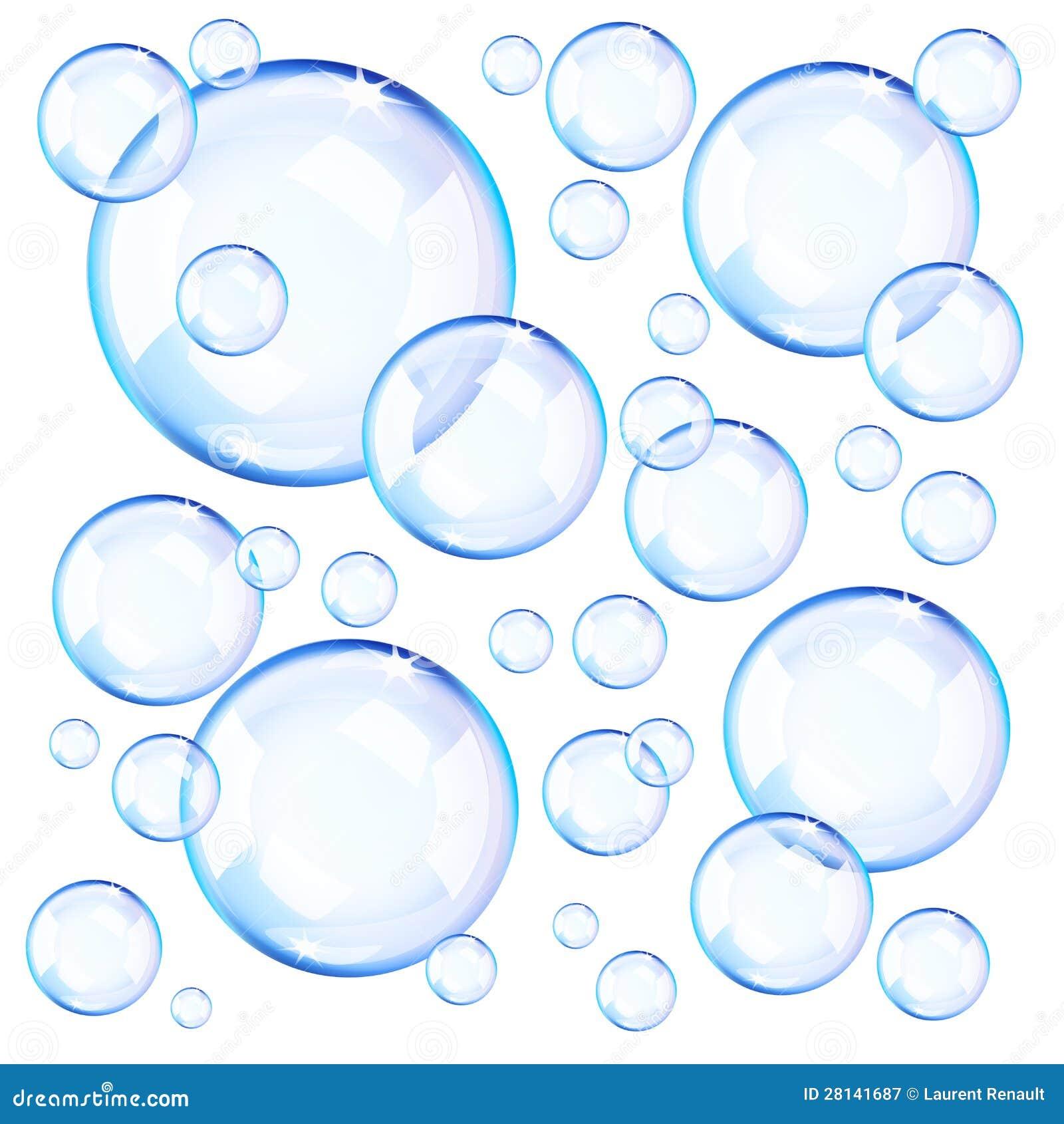81f8bc051d4 Bolhas De Sabão Azuis Transparentes Ilustração do Vetor - Ilustração ...