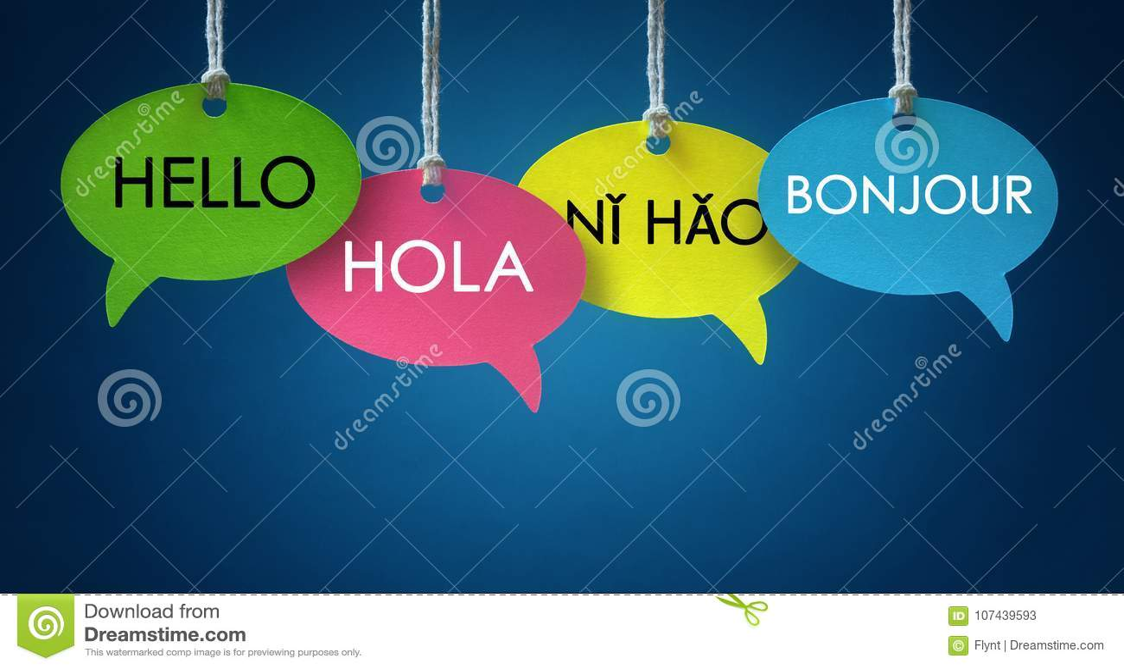 Bolhas do discurso de uma comunicação de língua estrangeira