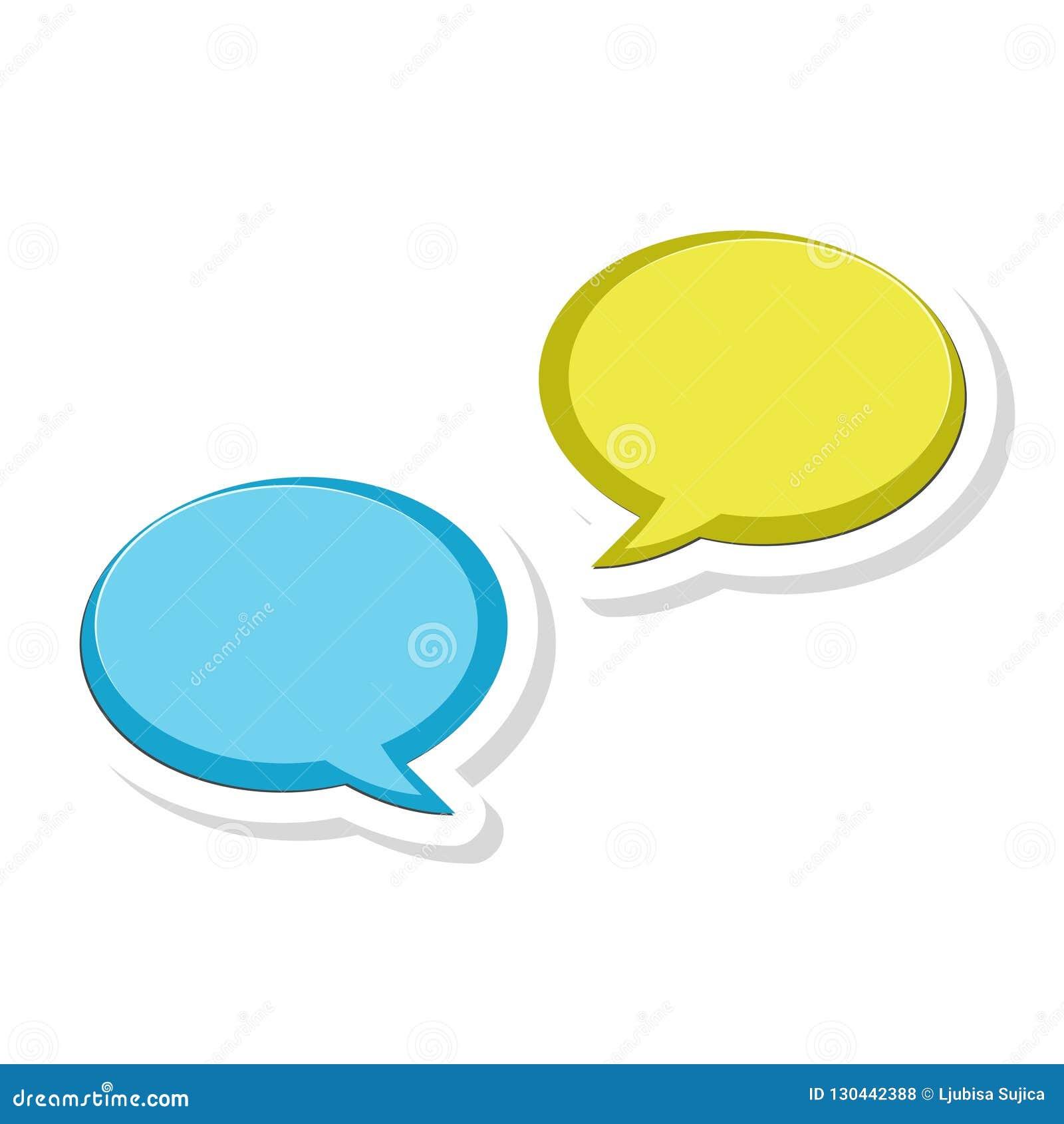 Bolhas etiqueta da mensagem, ícone do bate-papo, ícone do diálogo