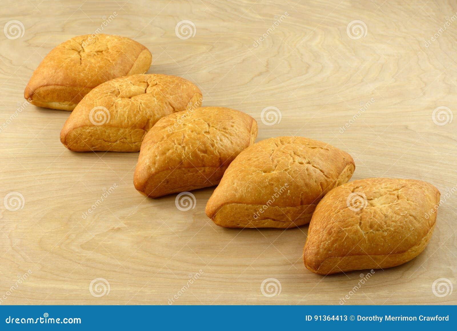 Bolillo Mexican white bread loaves