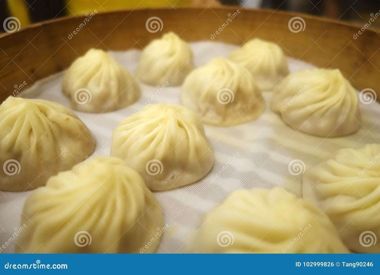 Bolinha de massa tradicional Xiao Long Bao da sopa
