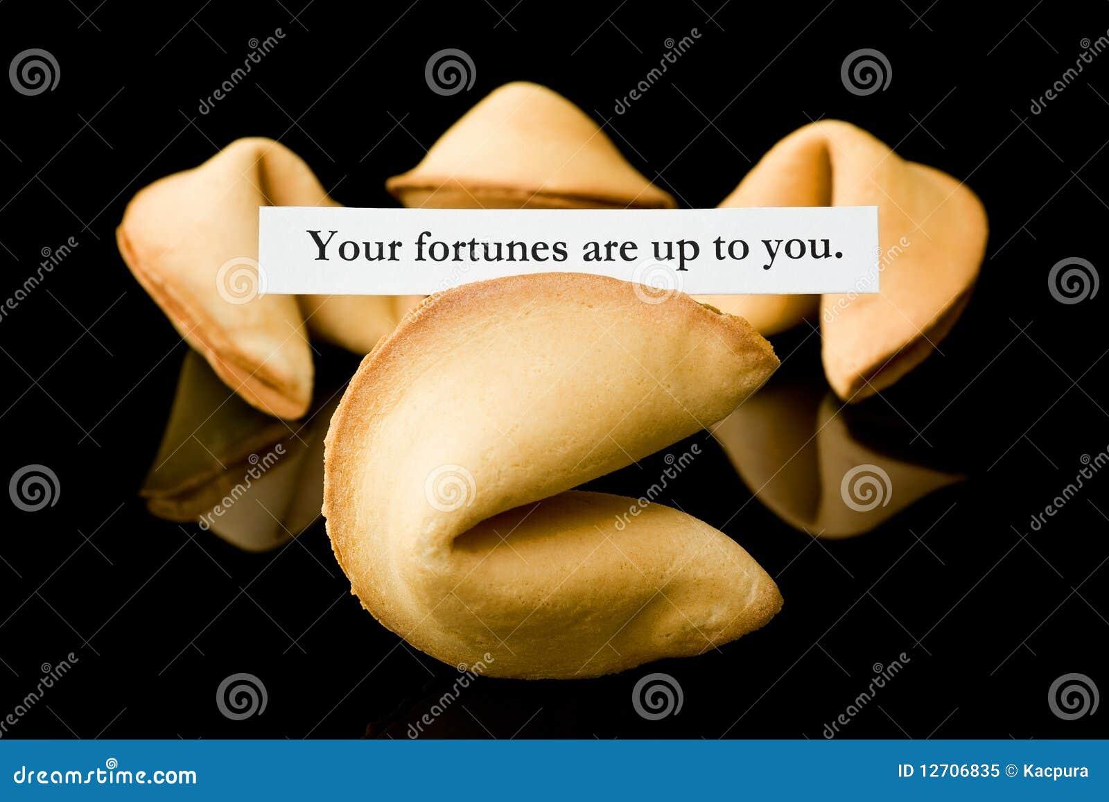Bolinho de fortuna: Suas fortunas incumbem você.