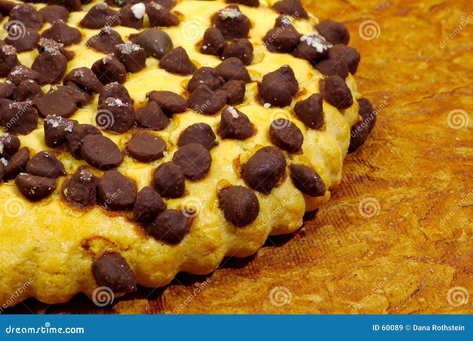 Bolinho de microplaqueta de chocolate