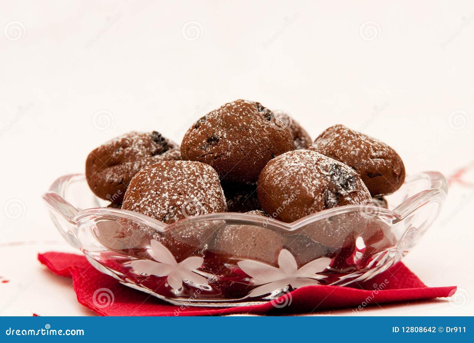 Bolinhos do chocolate