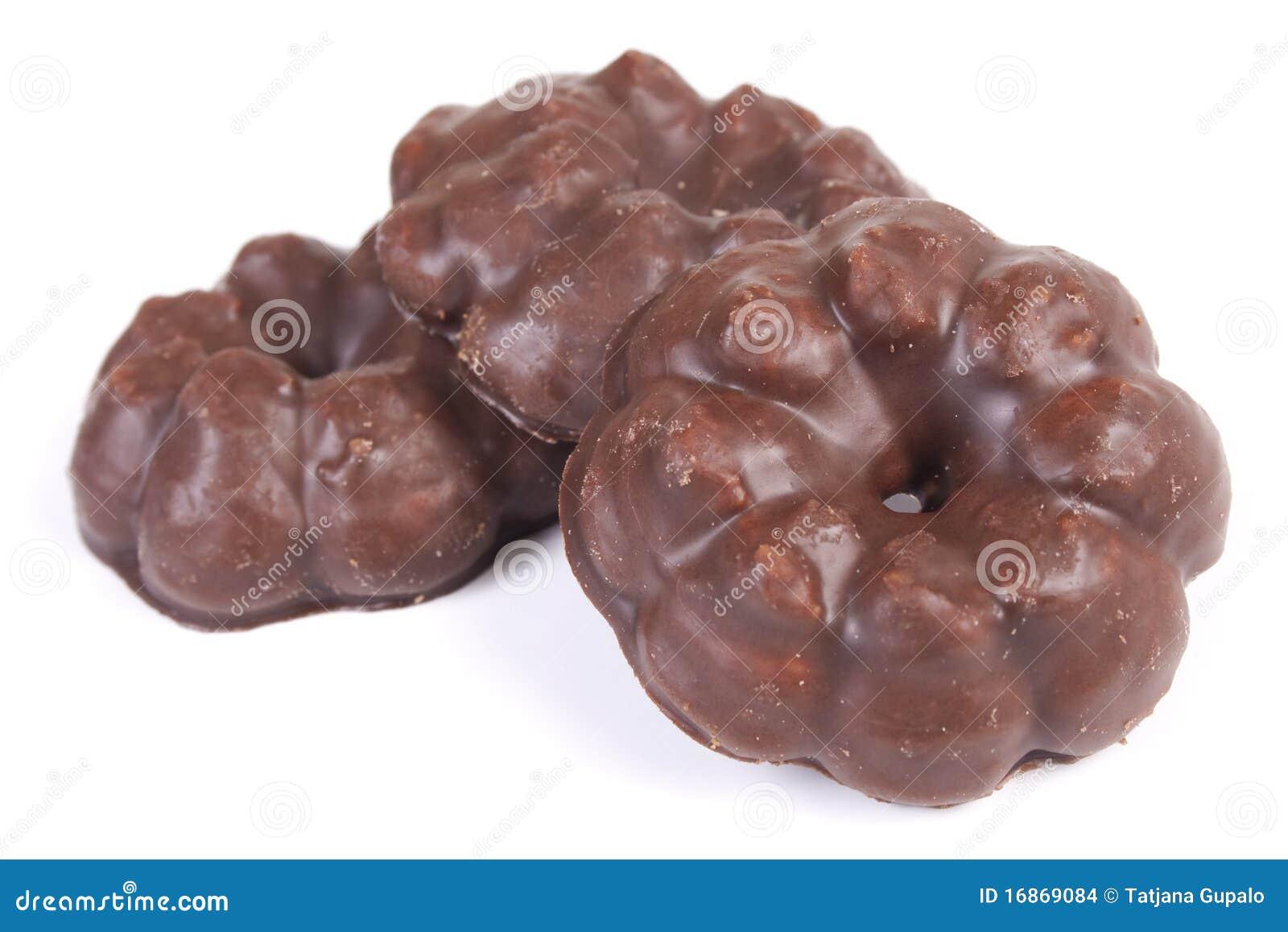 Bolinhos saborosos do chocolate doce