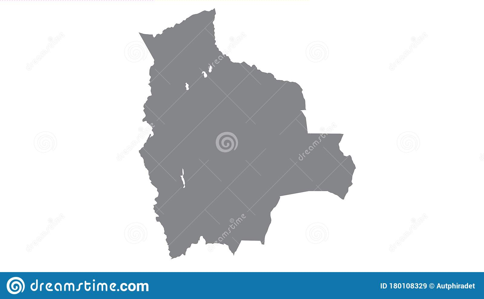 Bolivia map with gray tone on white background, illustration, textured, Symbols of Bolivia, for advertising, promote, TV.