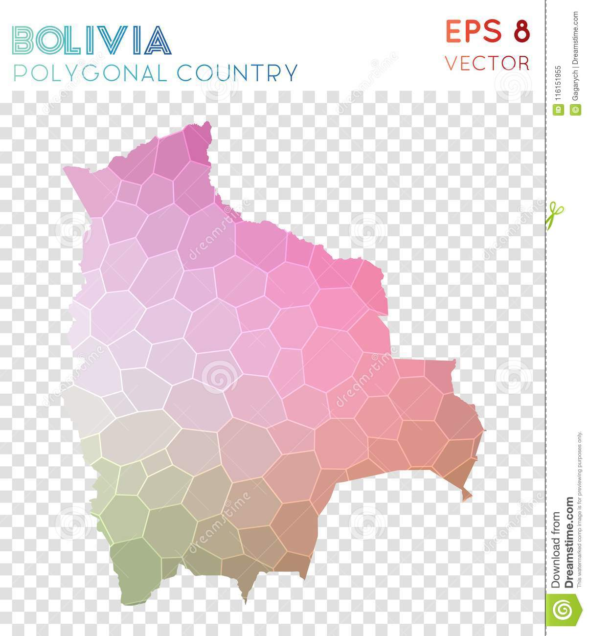 Download Bolivia Polygonal Map, Mosaic Style Country. Stock Vector    Illustration Of Bolivia,