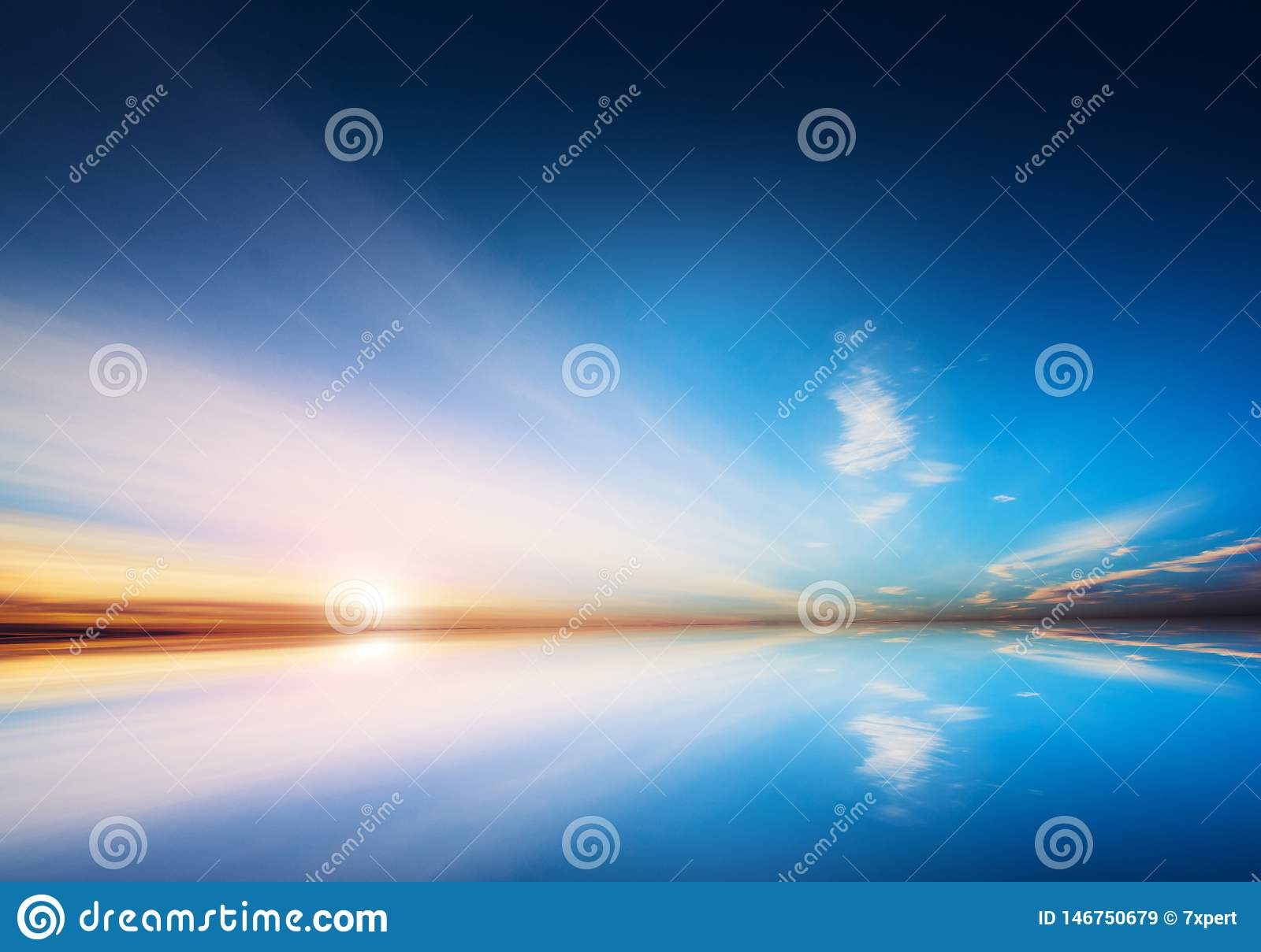 Bolivia sky and water mirror reflections