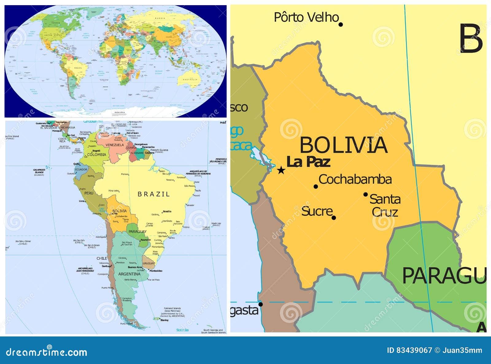 Bolivia World Stock Illustration Illustration Of Chile 83439067