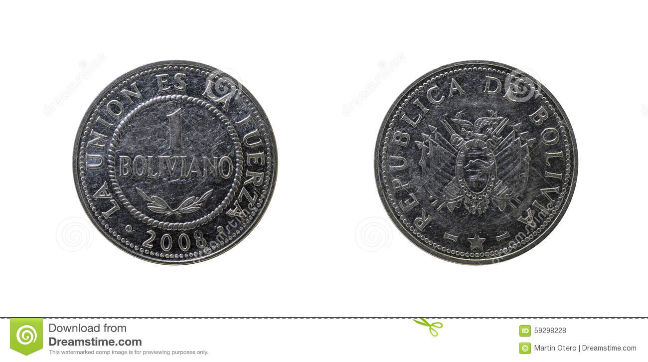 Bolivian Coin Stock Photo Image 59298228