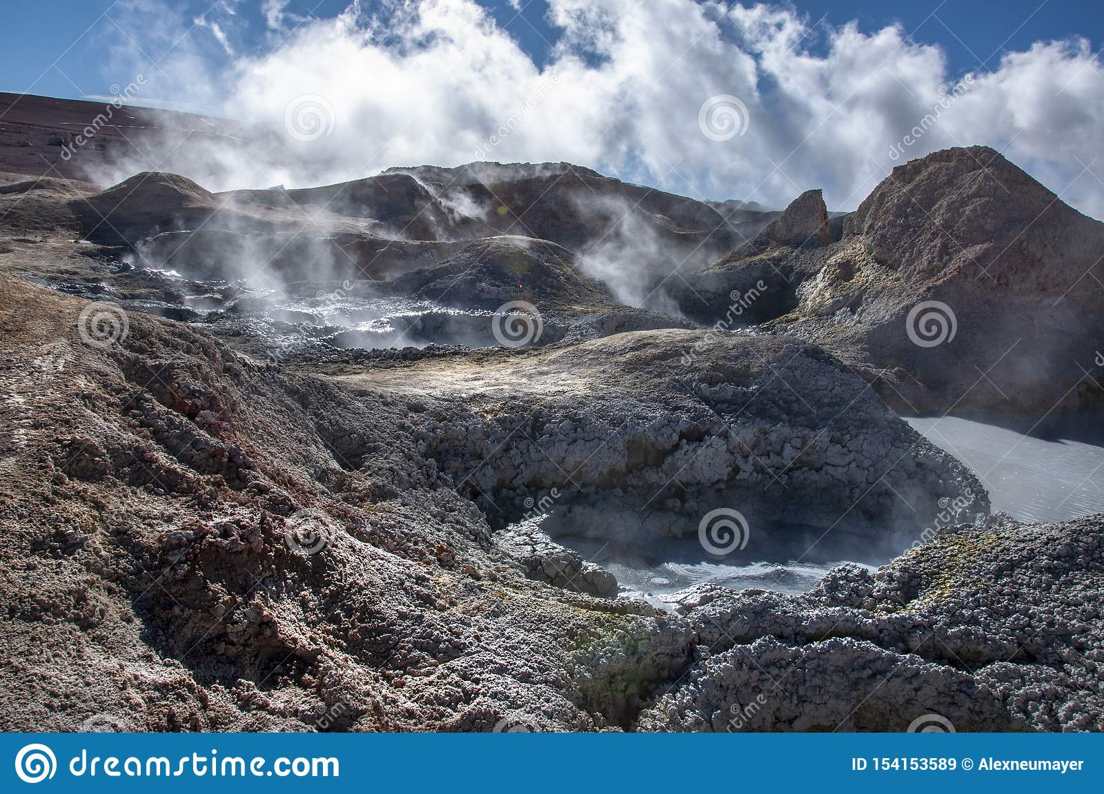 Bolivian Lagunas In The Andean Mountain Range Stock Image Image Of Flamingo Dust 154153589