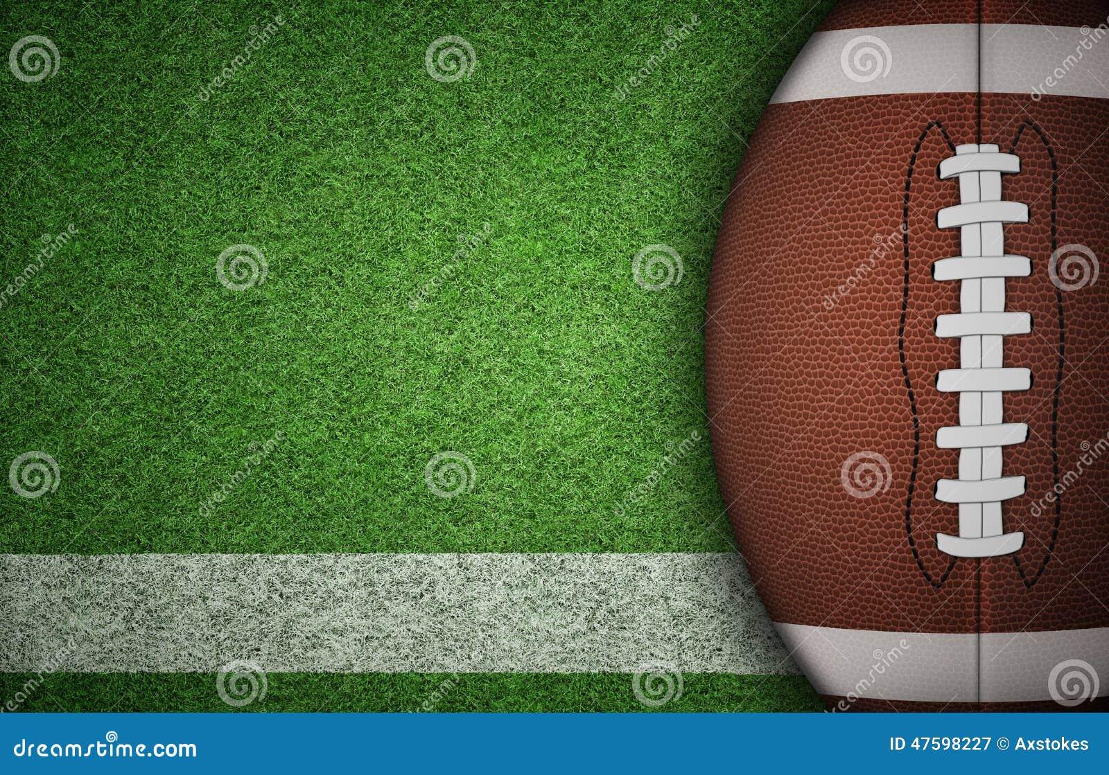 Boll för amerikansk fotboll på gräs