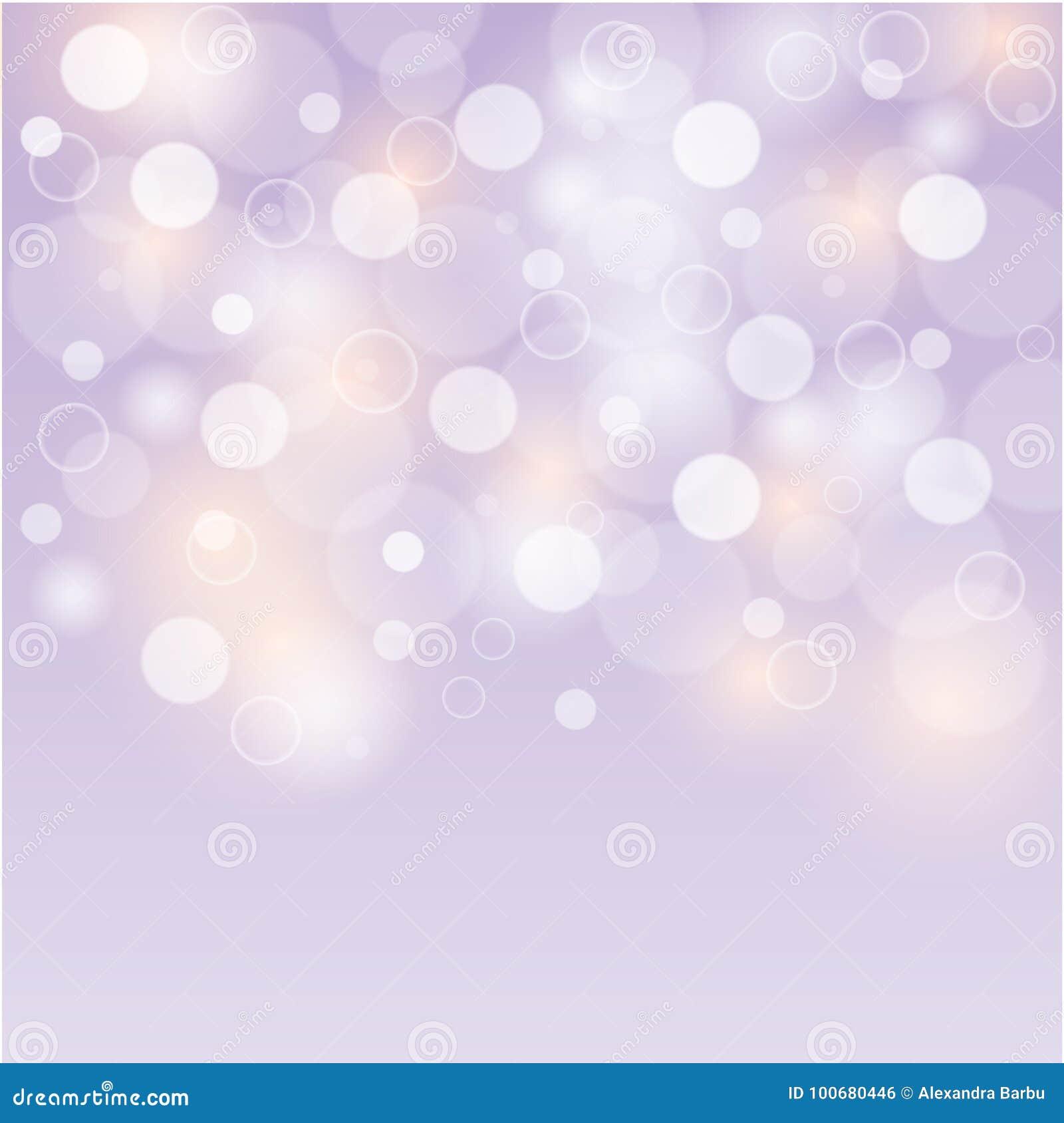 Bolle del fondo porpora molle o luci bianche del bokeh