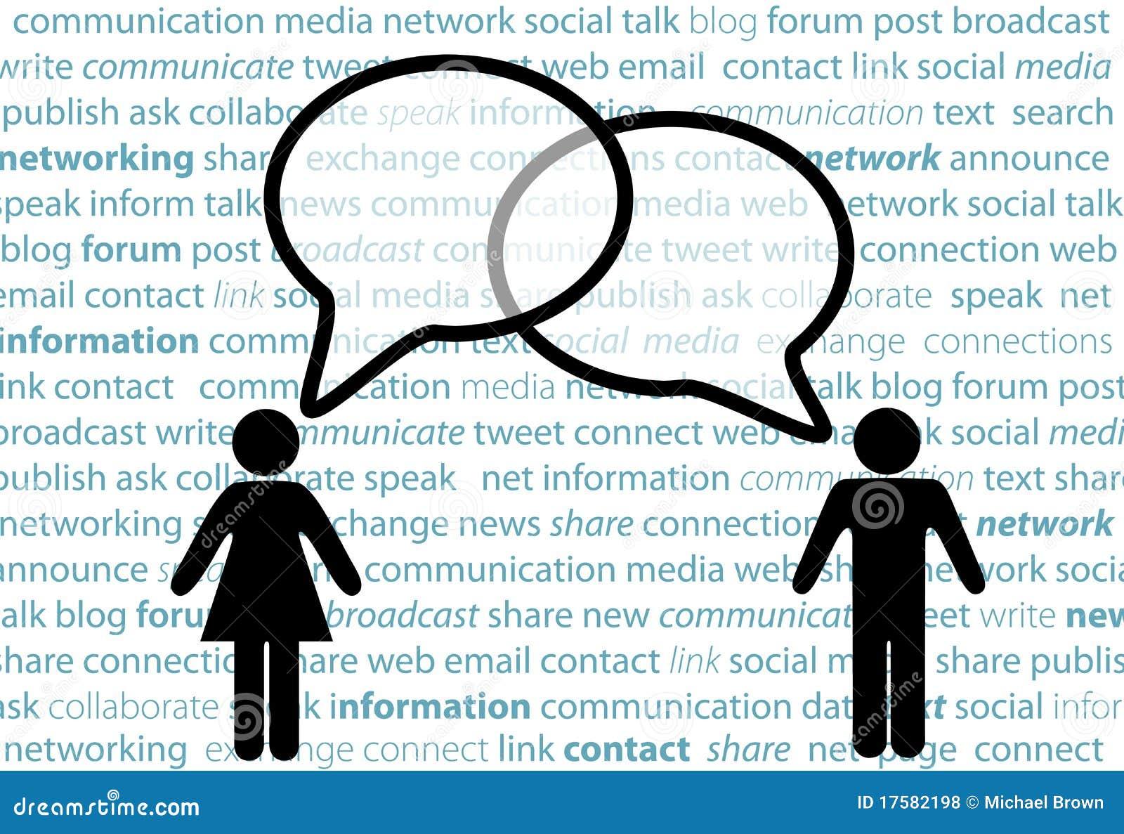 Bolle sociali di colloquio della rete della parte di simbolo della gente