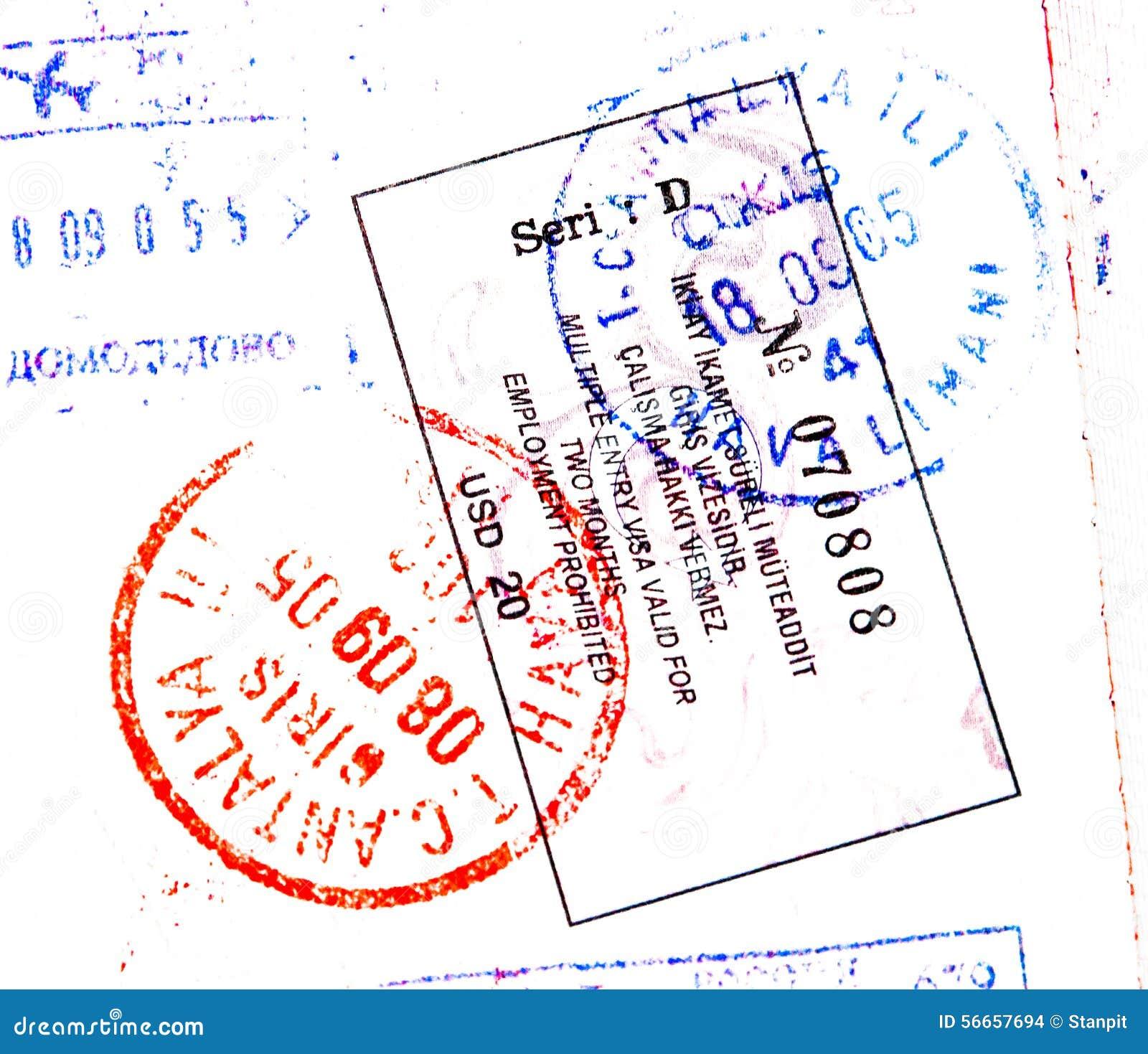 Bolli del passaporto