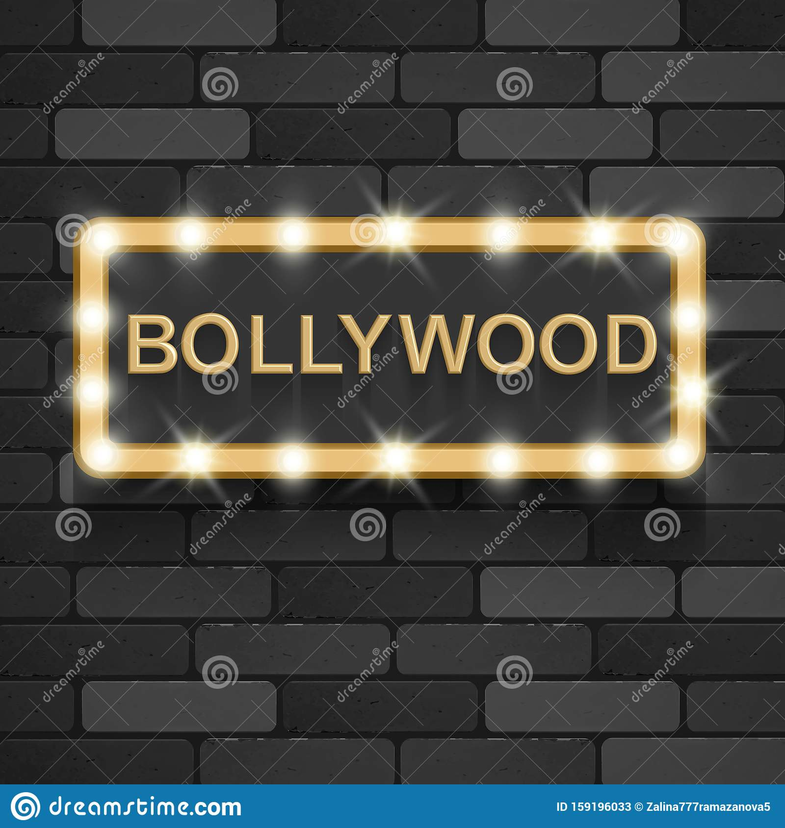Bollywood Cinema. Indian Movie, 3d Classic Film Posters