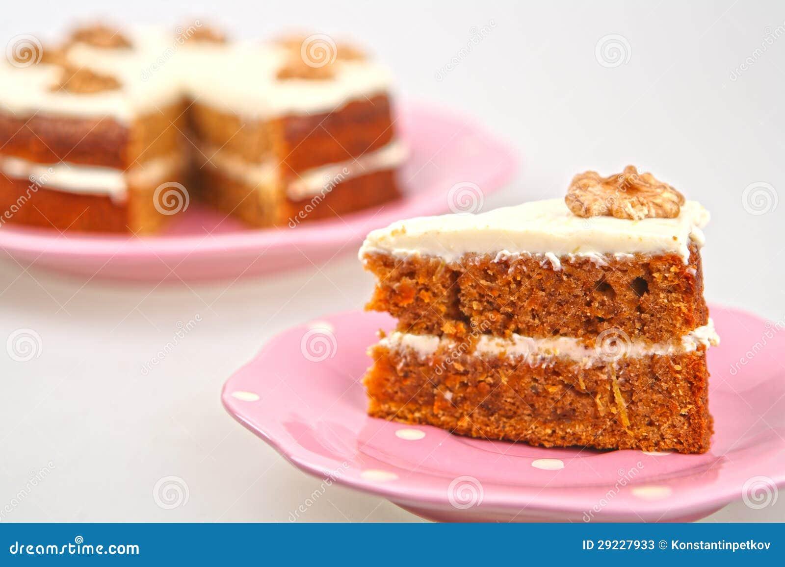 Download Bolo De Cenoura Com Queijo Creme Imagem de Stock - Imagem de alimento, creme: 29227933
