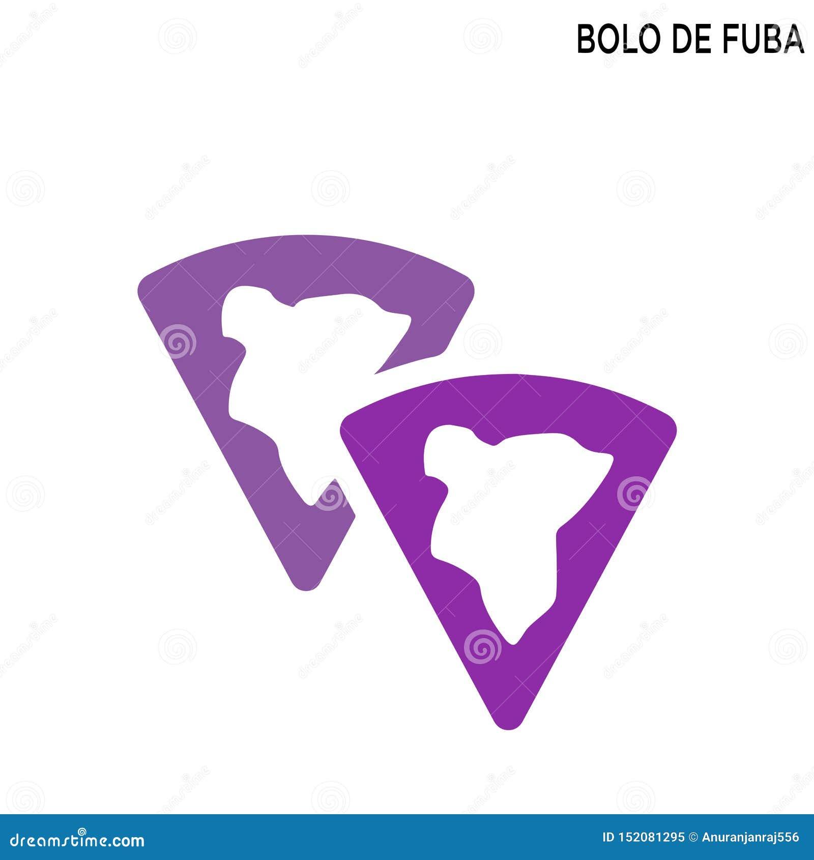 Bolo DE fuba editable pictogram