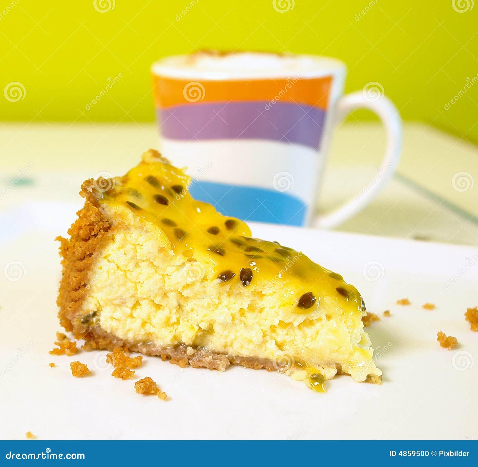 Bolo de queijo da fruta de paixão