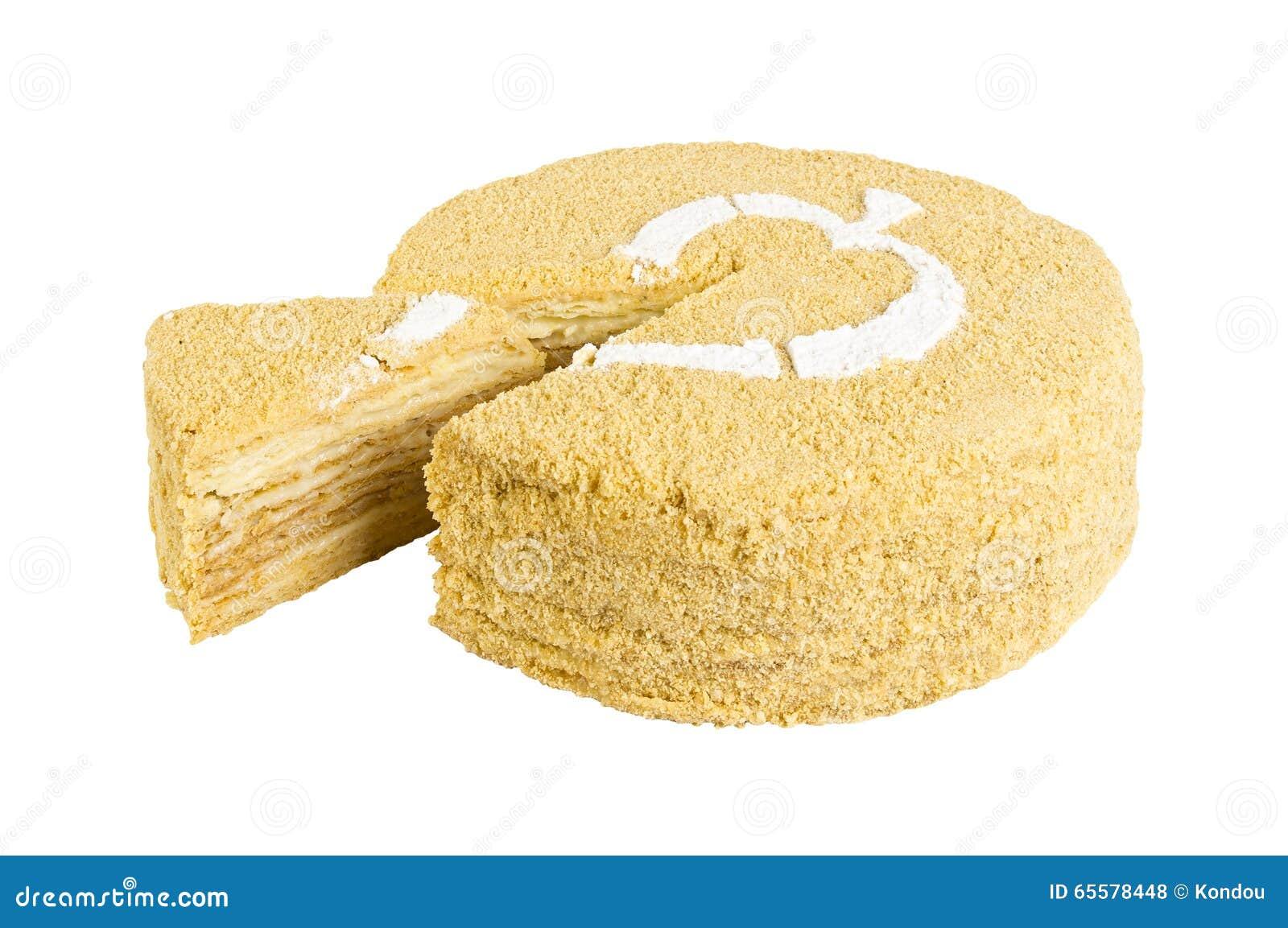 Bolo delicioso do biscoito