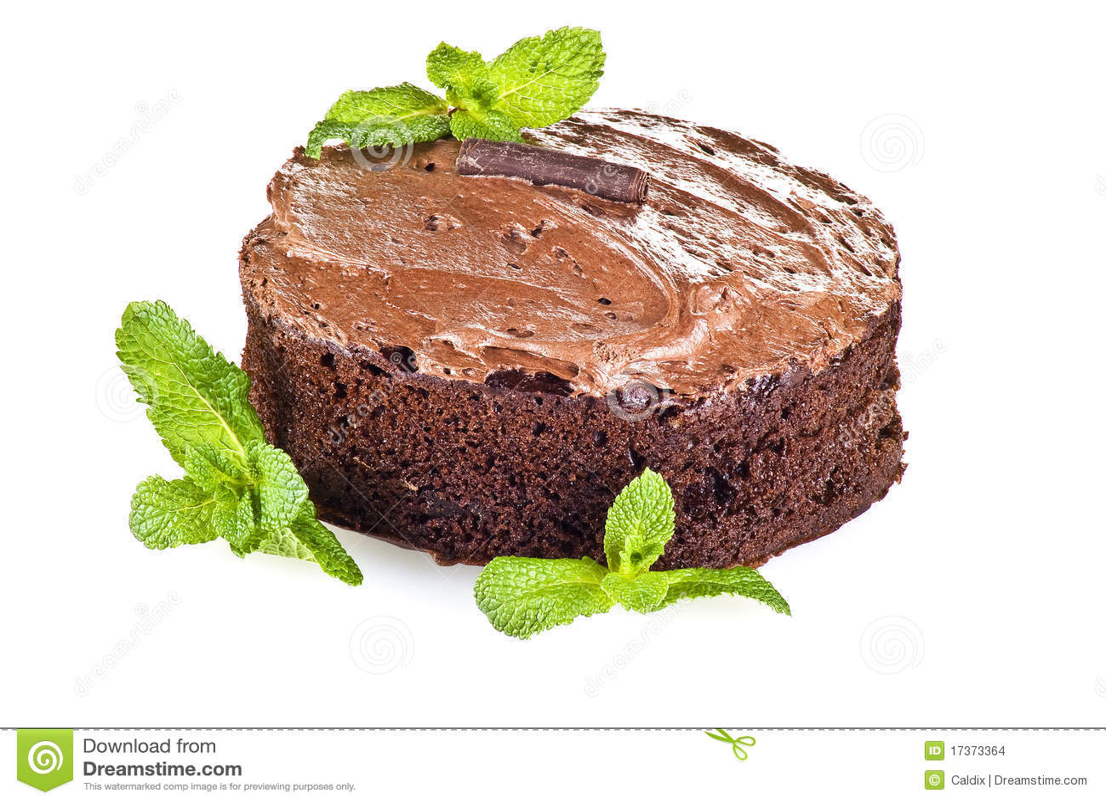 Bolo e hortelã de chocolate