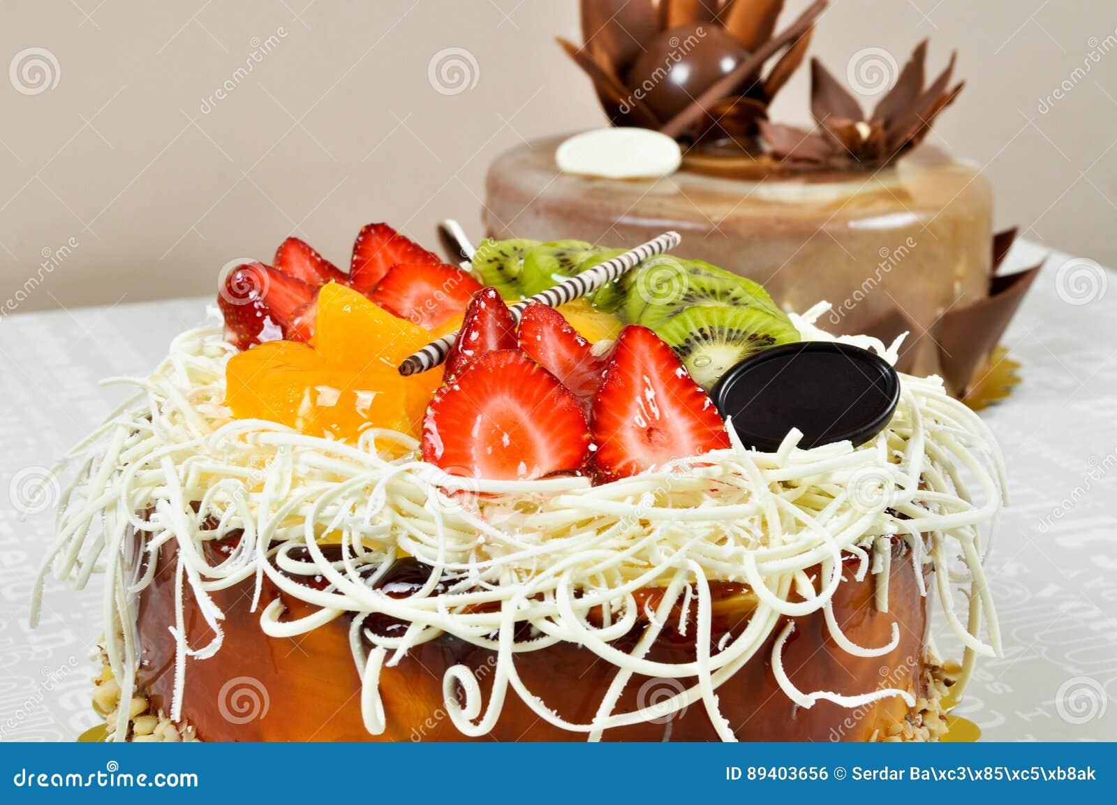 Bolo saboroso do fruto