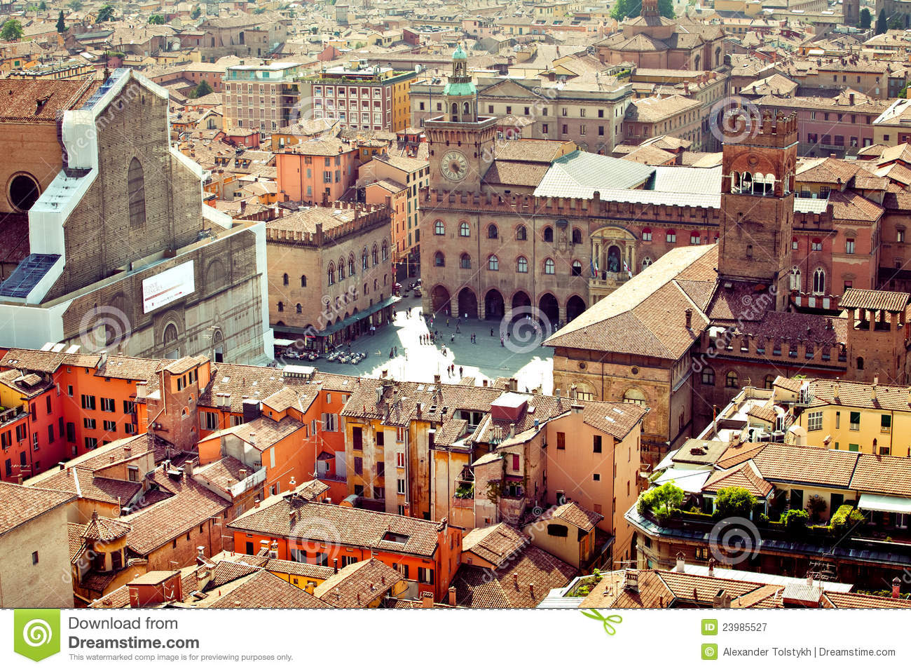 Bologna city view, Italy