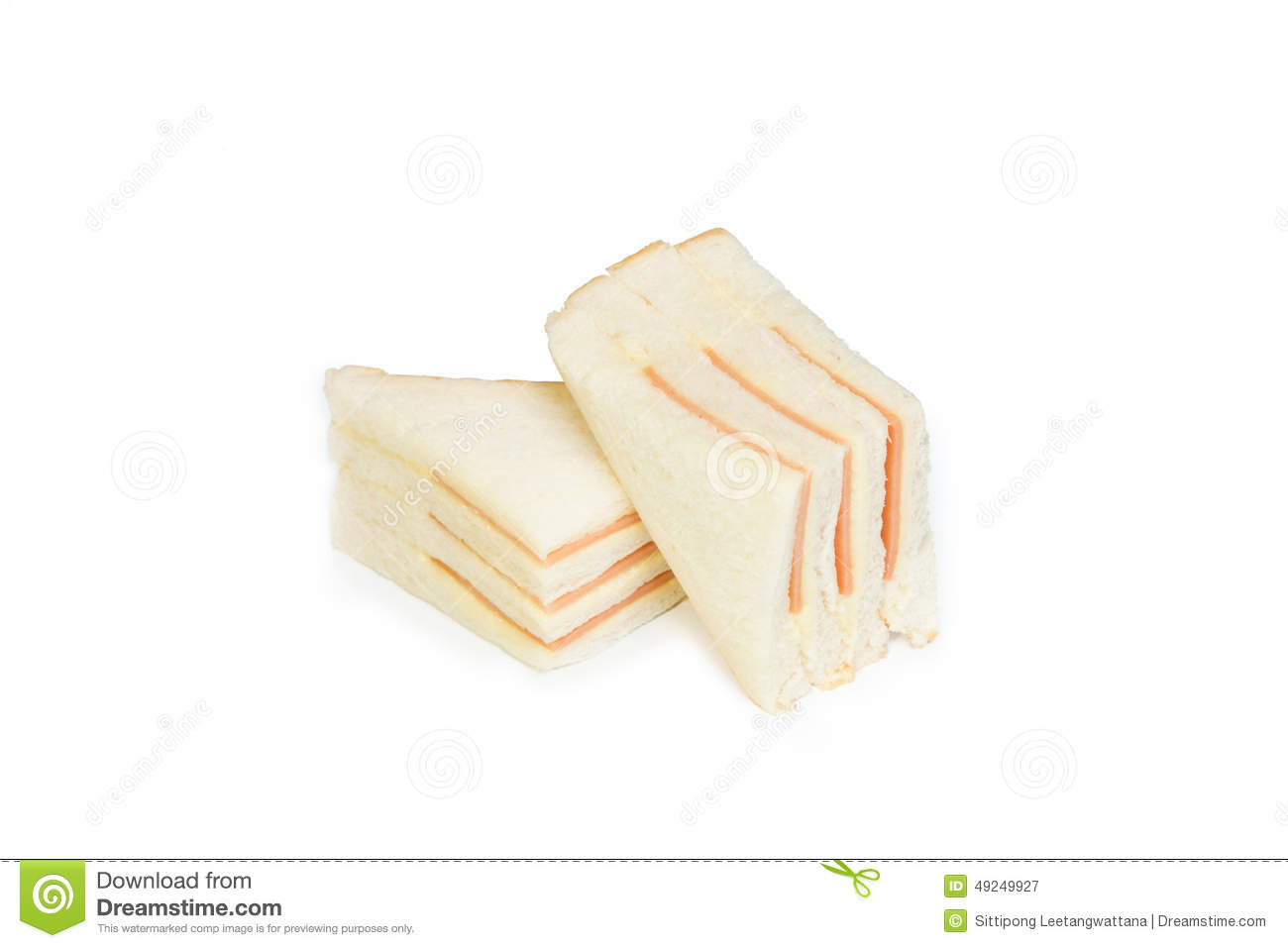 Bologna With Mayonnaise Sandwich Stock Image - Image of ...