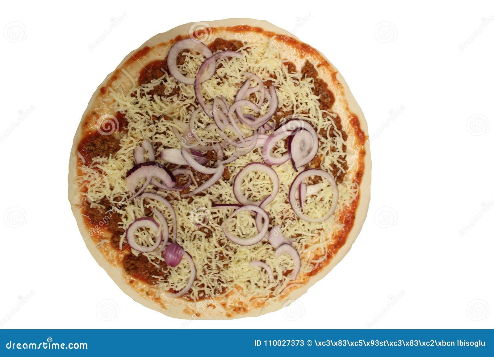 Bolognese pizza Ongebakken pizza Bolognese saus in pizza