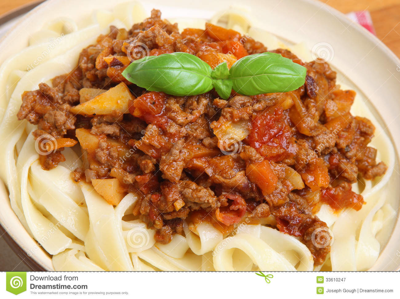 Bolognese Sauce With Tagliatelle Pasta Royalty Free Stock Photography ...
