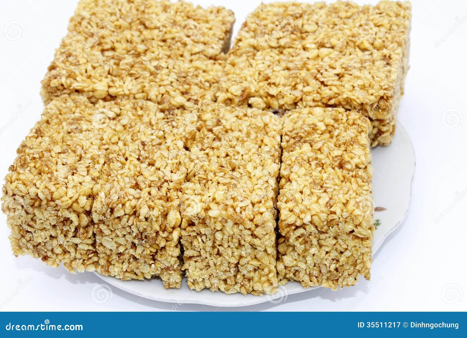 Bolos de arroz vietnamianos doce e perfumado