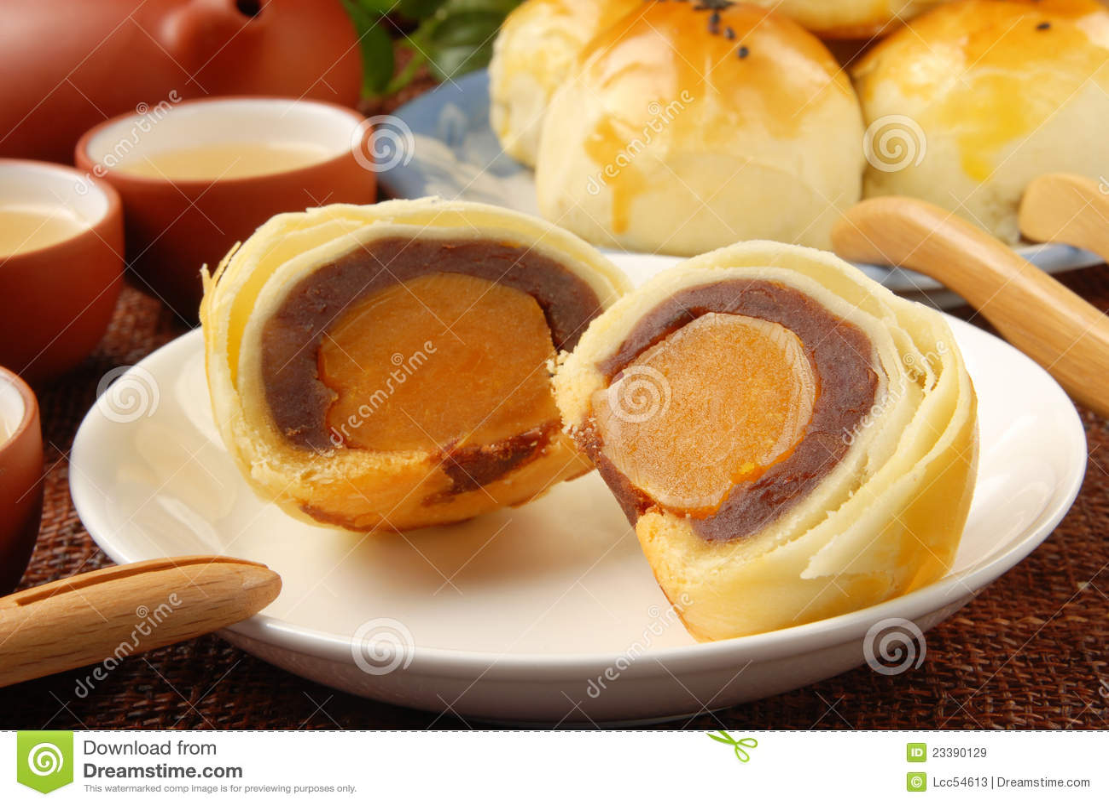 Bolos do yolk de ovo