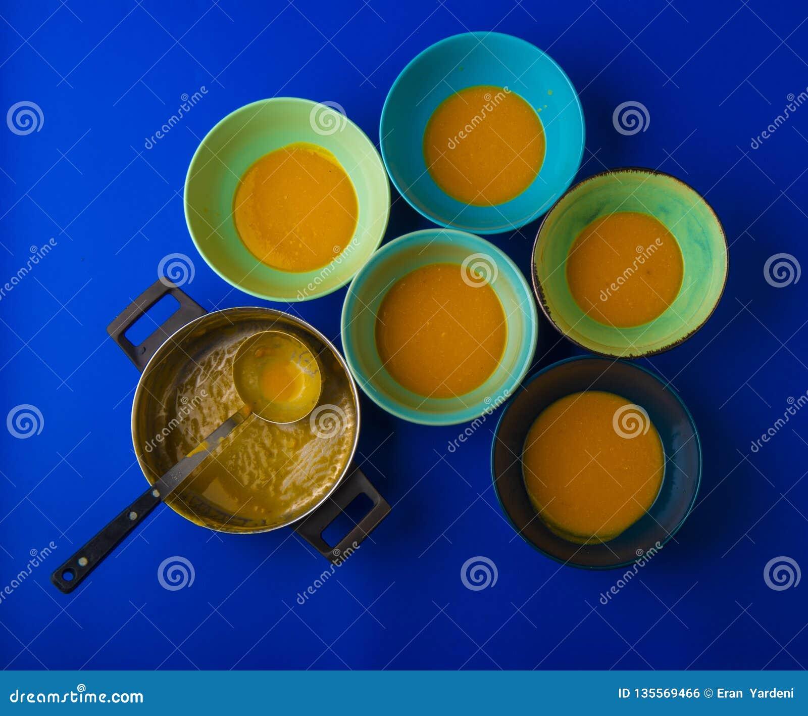 Bols de soupe à potiron