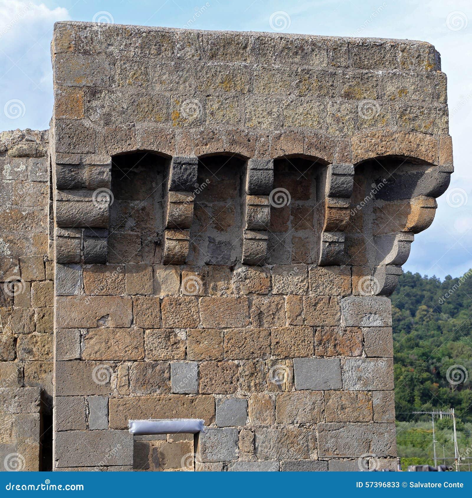 Bolsena (Viterbo, Lazio, Italië): het middeleeuwse kasteel