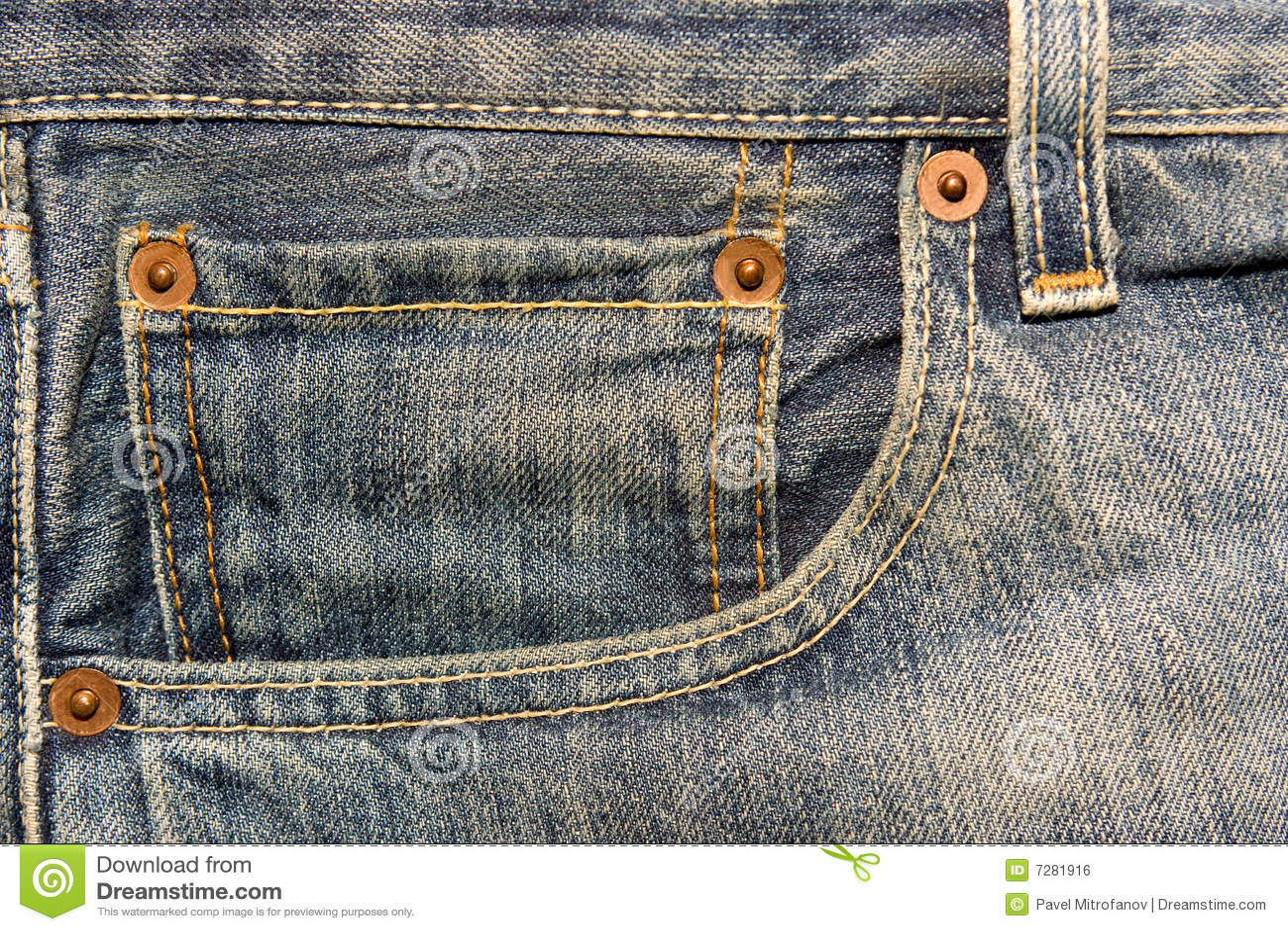 Bolsillo de los pantalones vaqueros