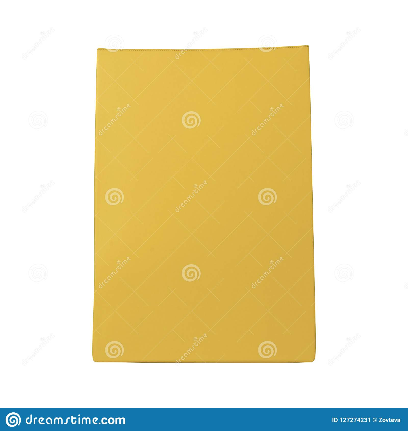 Bolso amarillo aislado