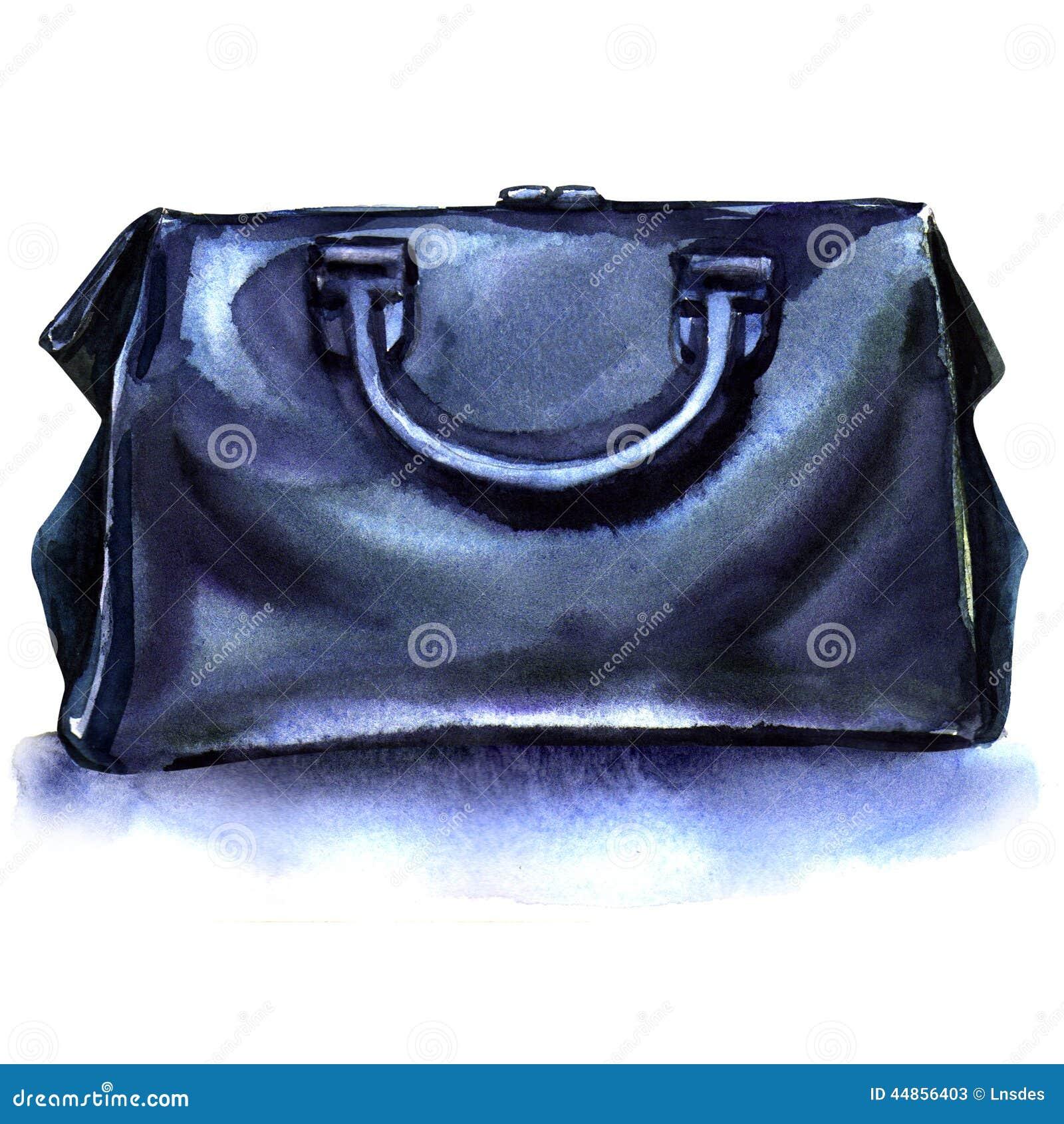 Download Bolso Azul Del Recorrido En Un Fondo Blanco Stock de ilustración - Ilustración de almacenaje, pintura: 44856403