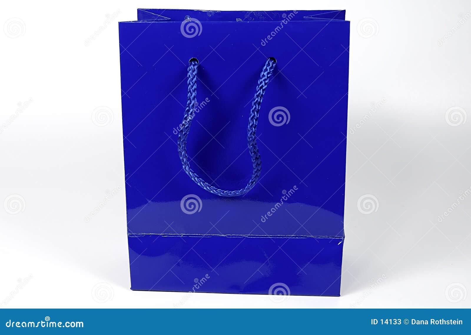 Bolso azul del regalo