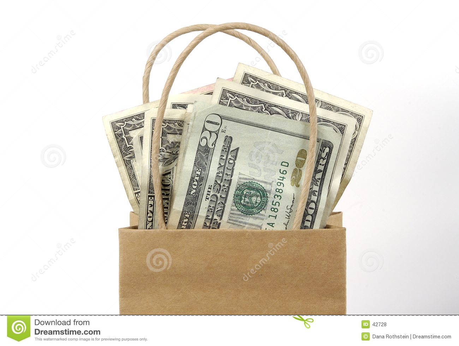 Download Bolso del dinero foto de archivo. Imagen de costos, dinero - 42728