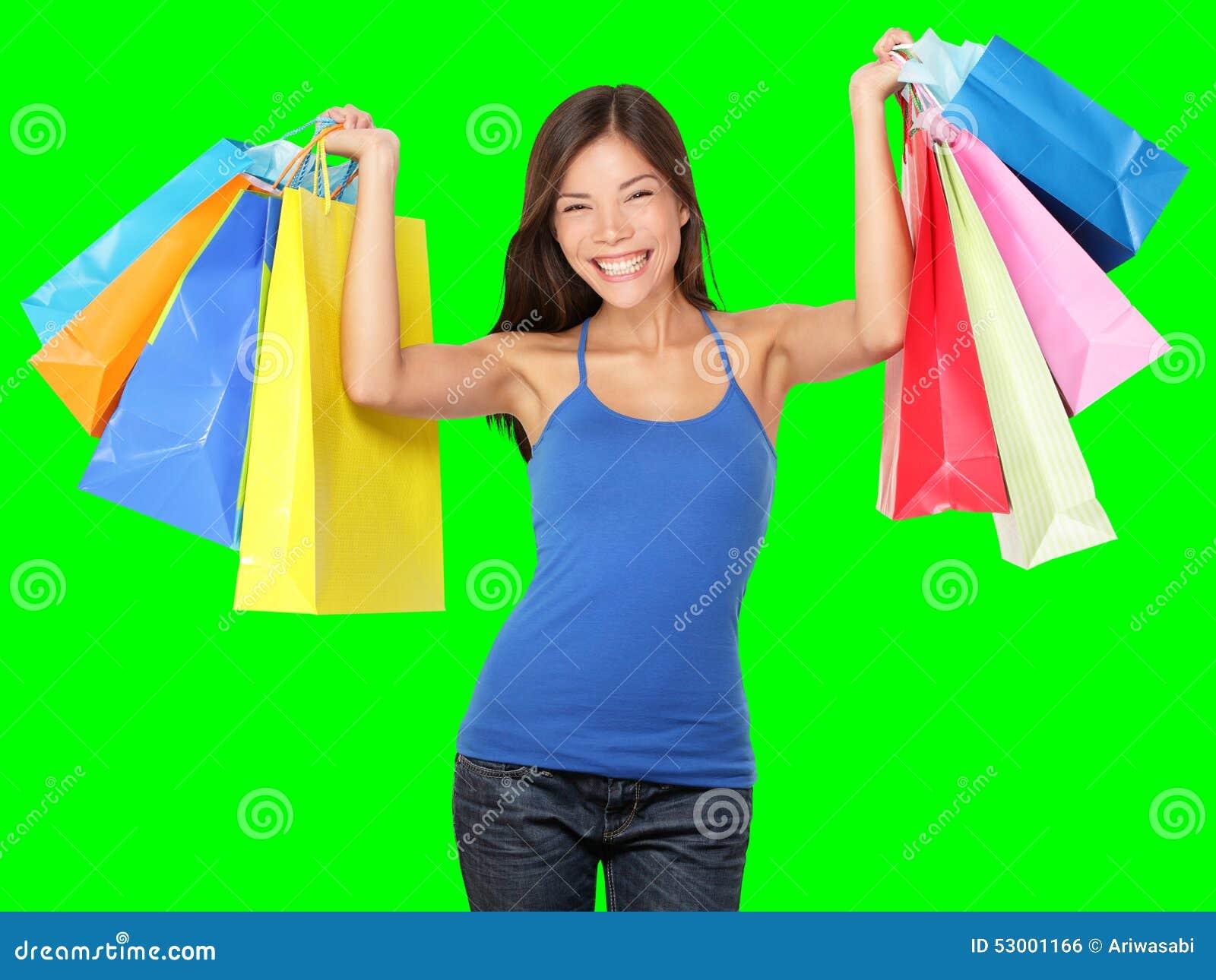Bolsos de compras de la explotación agrícola de la mujer de las compras