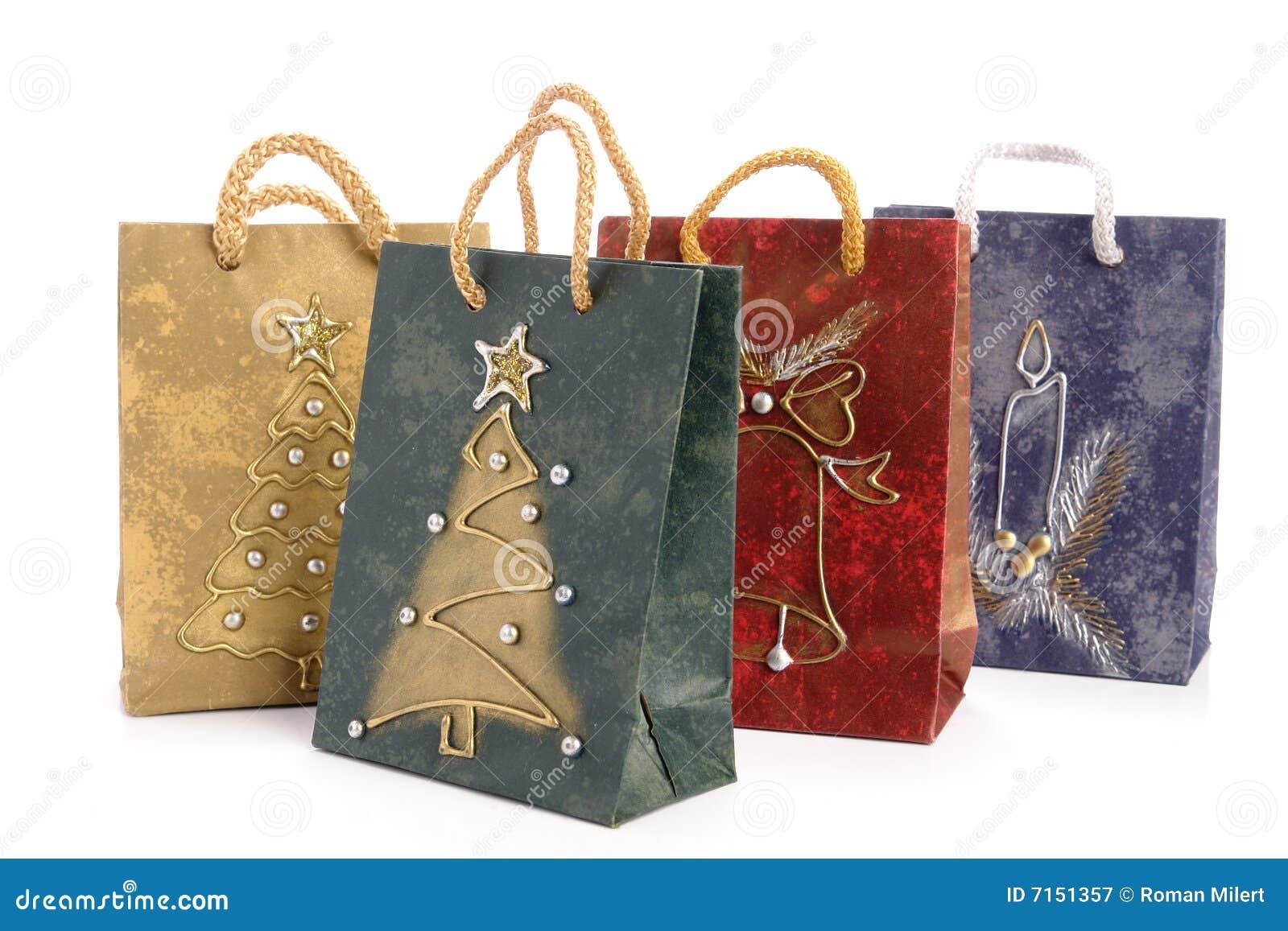 Bolsos de compras de la Navidad