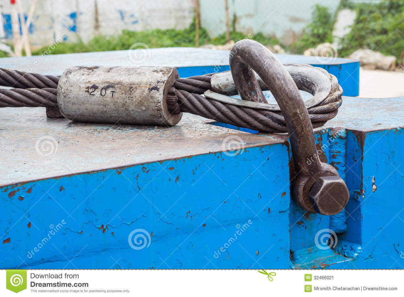 Bolt Anchor Shackle And Wire Rope Sling Stock Image - Image of site ...