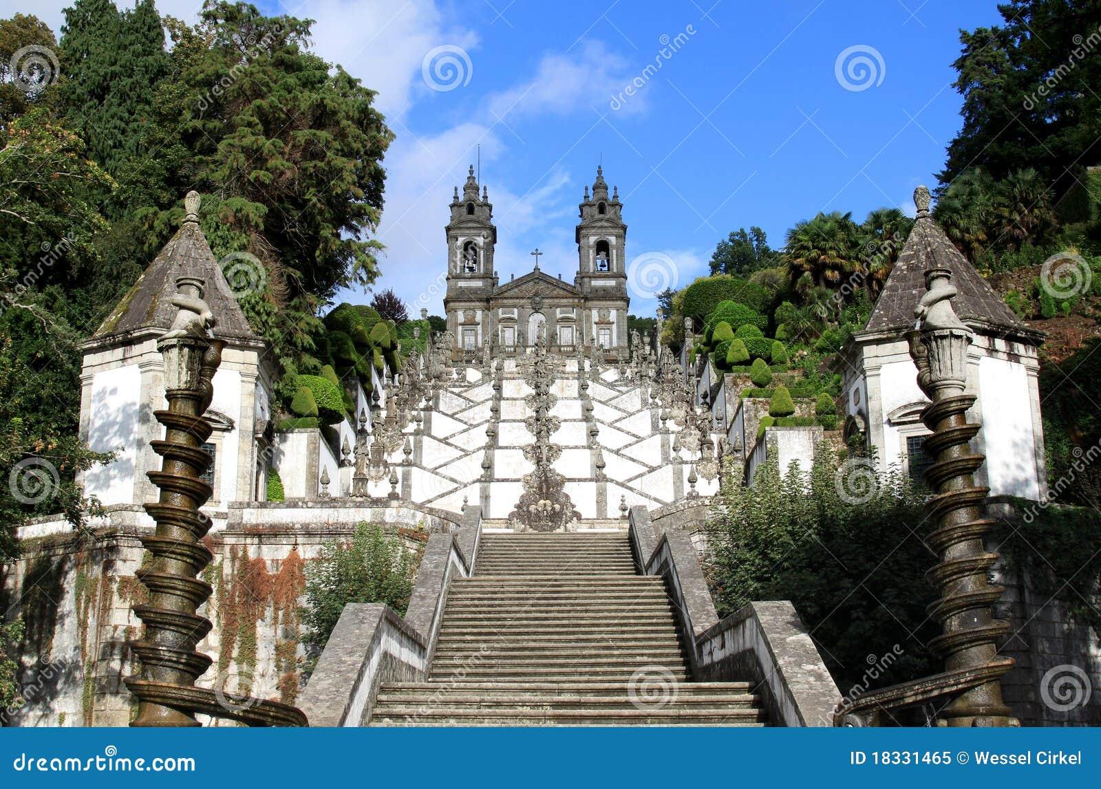 Bom braga gör jesus monte nära den portugal santuarioen